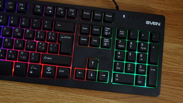 Клавиатура с подсветкой SVEN KB-C7100EL