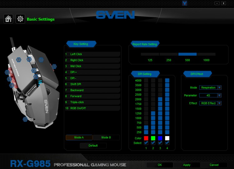 Игровая мышь SVEN RX-G985
