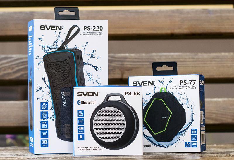 Портативная акустика SVEN: PS-68, PS-77, PS-220
